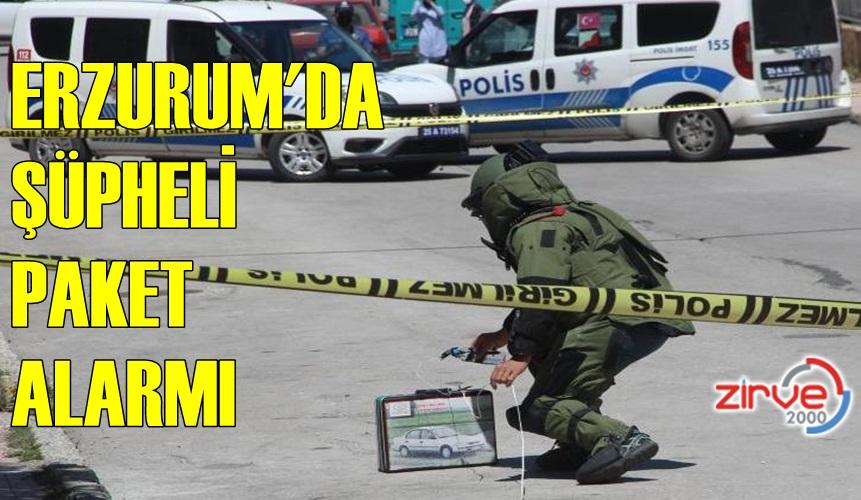 ŞÜPHELİ PAKET POLİSİ ALARMA GEÇİRDİ