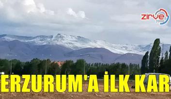 Erzurum'a mevsimin ilk karı Eylül ayında düştü
